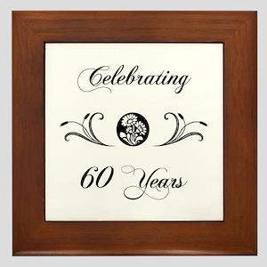 60th Anniversary (b&w) Framed Tile