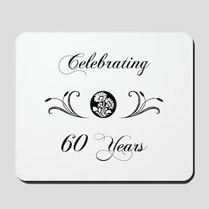 60th Anniversary (b&w) Mousepad