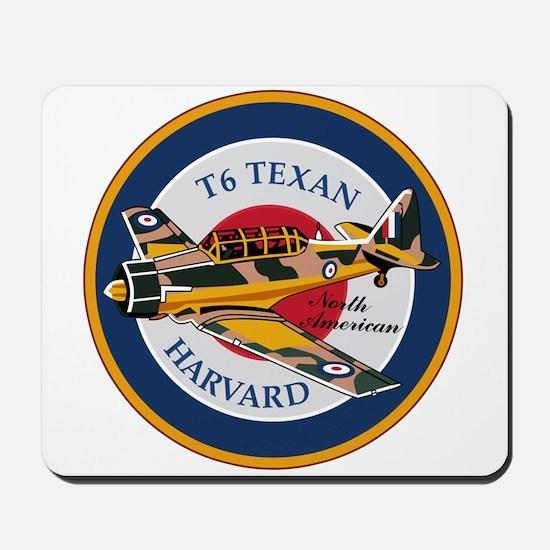 T6 Texan Harvard North American Abzeichen Mousepad