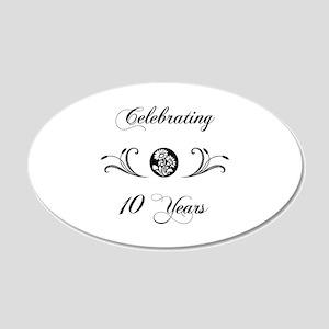 10th Anniversary (b&w) 20x12 Oval Wall Decal