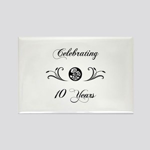10th Anniversary (b&w) Rectangle Magnet