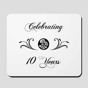 10th Anniversary (b&w) Mousepad
