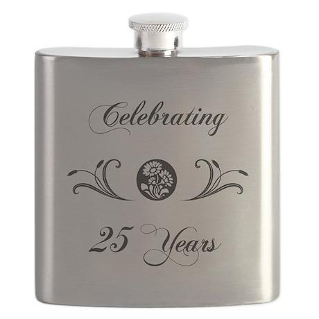 25th Anniversary (b&w) Flask