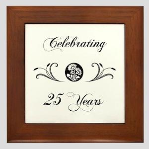 25th Anniversary (b&w) Framed Tile