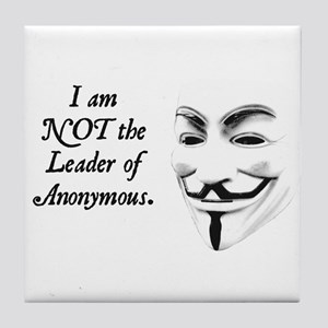 Anonymous People Tile Coaster