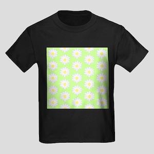 Waterlilies on Green. Kids Dark T-Shirt