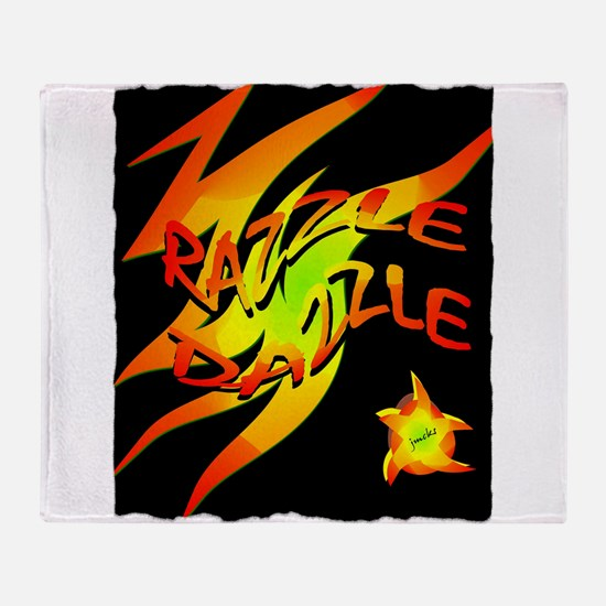 razzle dazzle art illustration Throw Blanket