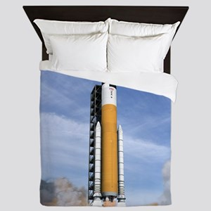Ares V rocket, artwork - Queen Duvet