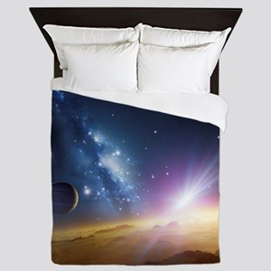 Extrasolar gas giant planet, artwork - Queen Duvet