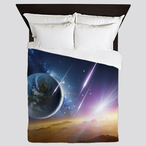 Earth-like planet, artwork - Queen Duvet