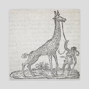 Giraffe, 16th century artwork - Queen Duvet