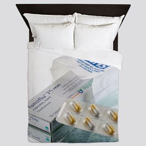 Tamiflu influenza drug - Queen Duvet