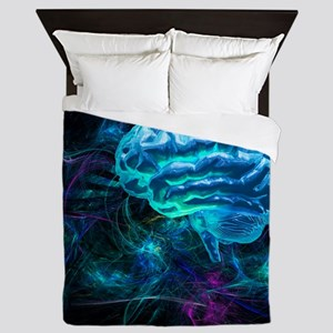 Brain research, conceptual artwork - Queen Duvet
