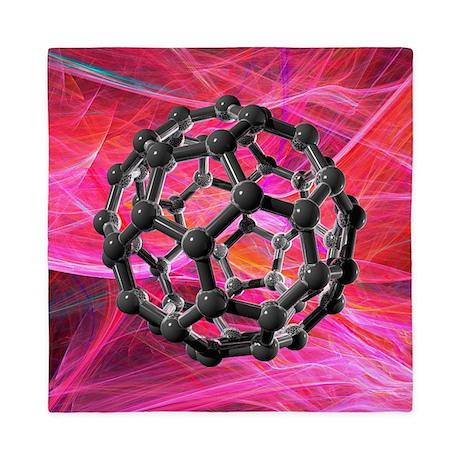 Buckyball molecule, artwork - Queen Duvet