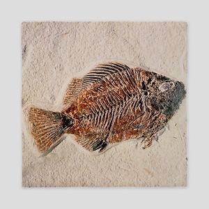 Fossilised fish, Priscacara serata - Queen Duvet