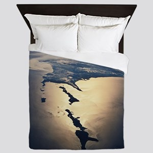 Habomai Rocks and Japan from space - Queen Duvet