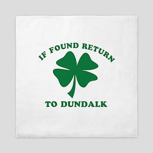 Dundalk Ireland Clover Designs Queen Duvet