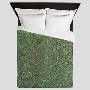 Manchester and environs, aerial view - Queen Duvet