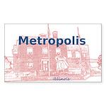 Metropolis Superman Sticker (Rectangle 10 pk)