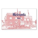 Metropolis Superman Sticker (Rectangle)
