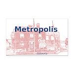 Metropolis Superman Rectangle Car Magnet