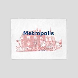 Metropolis Superman 5'x7'Area Rug