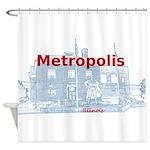 Metropolis Superman Shower Curtain