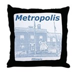 Metropolis Superman Throw Pillow