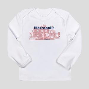 Metropolis Superman Long Sleeve Infant T-Shirt