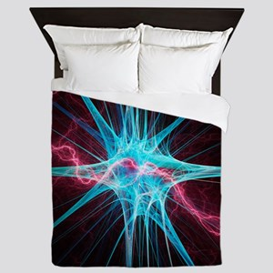 Nerve cell, artwork - Queen Duvet