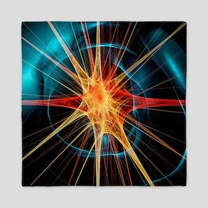 Nerve cell, artwork - Queen Duvet
