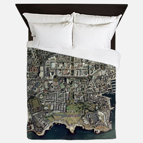 Plymouth, UK, aerial image - Queen Duvet