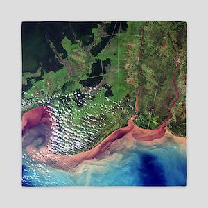 River deltas in Borneo - Queen Duvet