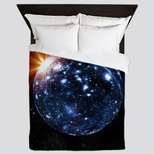 Spherical universe, artwork - Queen Duvet