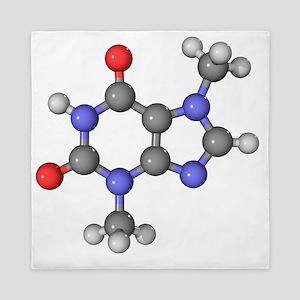 Theobromine molecule - Queen Duvet
