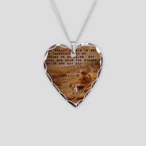 What Really Counts - John F Kennedy Necklace Heart
