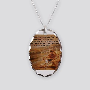 What Really Counts - John F Kennedy Necklace Oval