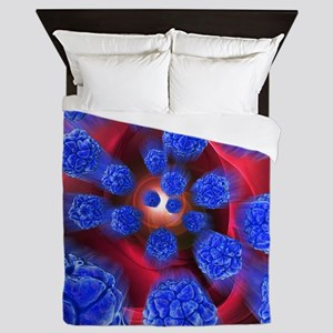 Viral infection, conceptual artwork - Queen Duvet