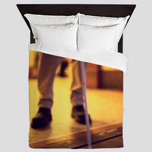 Blind man walking - Queen Duvet