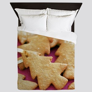Christmas tree shaped biscuits - Queen Duvet
