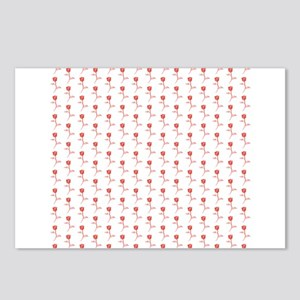 Pattern of Red Roses. Postcards (Package of 8)