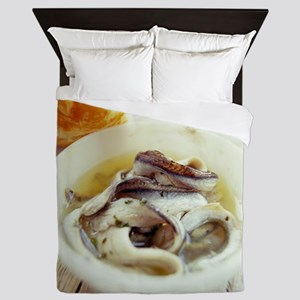 Fish and bread meal - Queen Duvet