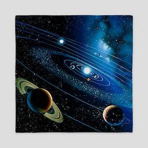Artwork of the solar system - Queen Duvet