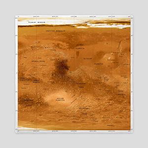 Mars topographical map, satellite image - Queen Du