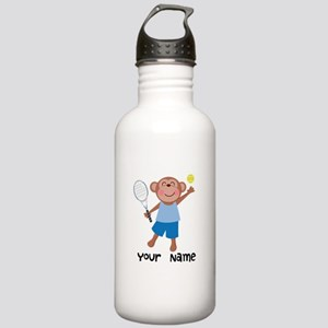 Personalized Tennis Monkey Stainless Water Bottle