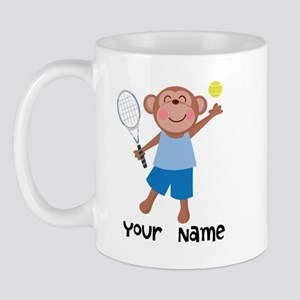 Personalized Tennis Monkey Mug