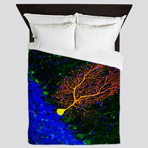 Purkinje nerve cell - Queen Duvet
