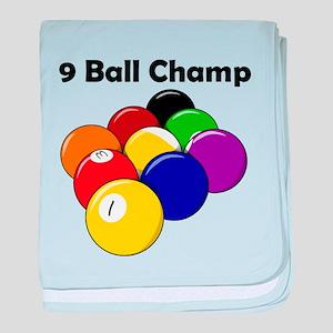 9 Ball Champ baby blanket