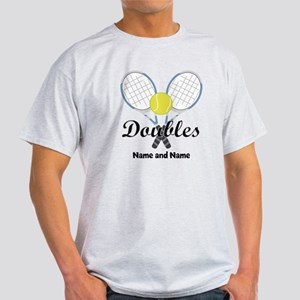 Personalized Tennis Doubles Light T-Shirt