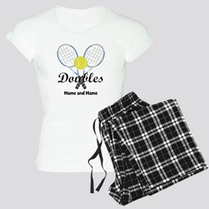 Personalized Tennis Doubles Women's Light Pajamas